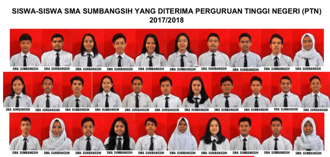 siswa siswi yang diterima di PTN pada tahun 2018