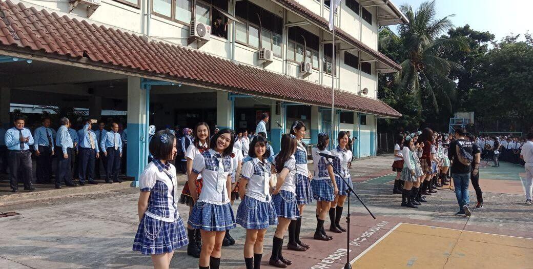 SMA Sumbangsih Kedatangan grup musik JKT-48